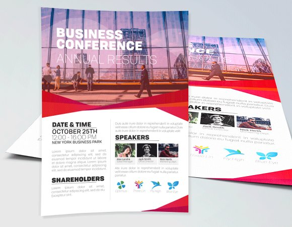 business conference flyer template flyer templates creative market