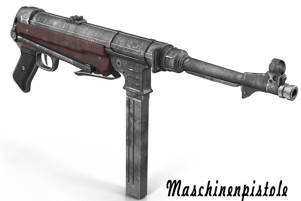 3D Weapons - Submachine gun MP40