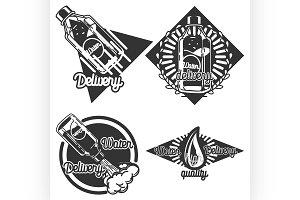 Vintage Water delivery emblems