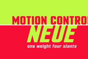 Motion Control Neue: a Sturdy Font