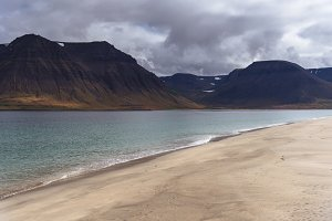 Nordic Beach and Mountains