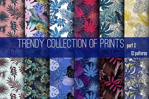 12 trendy tropical pattern.