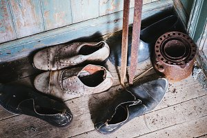 Old Shoes on the Floor (Vintage)