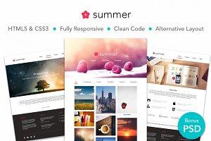 Summer—Creative Portfolio HTML Theme