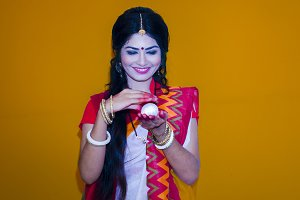nilima with saree