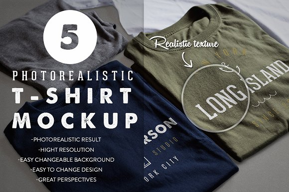 Download Photorealistic T-Shirt Mockup
