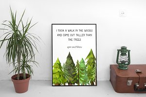 Wall art: Quotes, woods, rustic