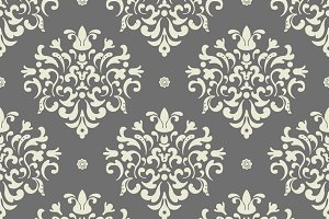 Baroque seamless vector background