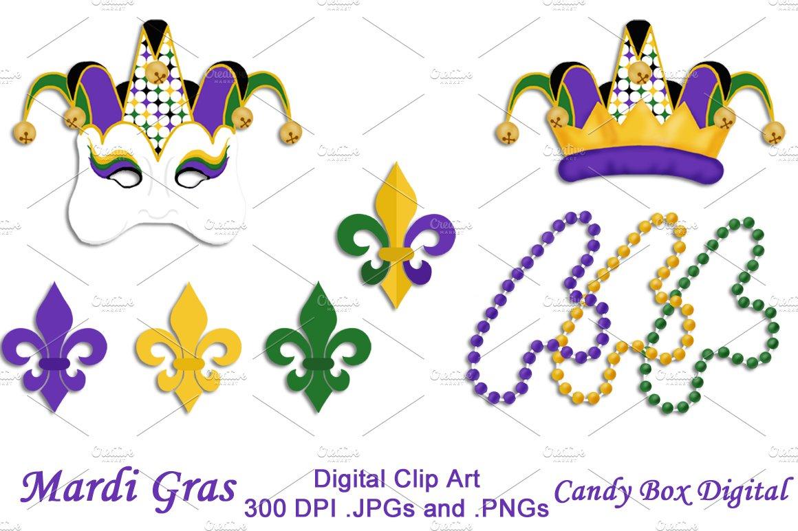 Mardi Gras Clip Art ~ Illustrations ~ Creative Market