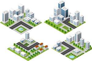 3D landscape city
