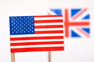 Flags of the UK and USA