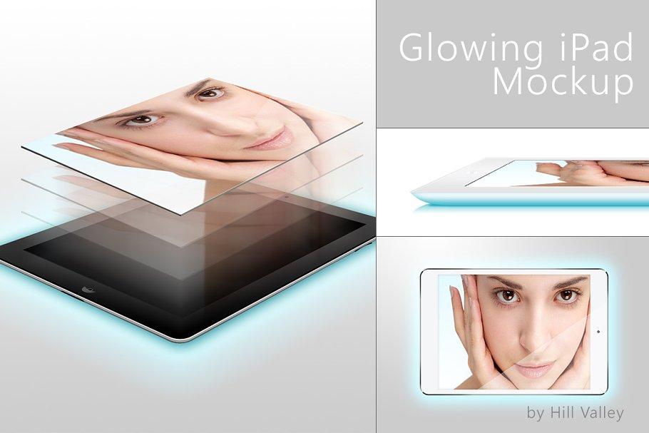 Glowing iPad Mockup