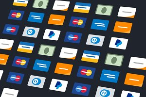 Minimalist/Flat - Credit Card Icons