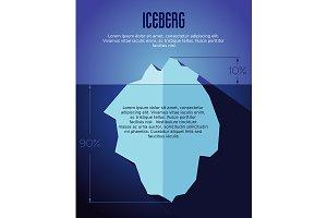 Vector iceberg concept
