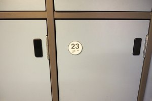 Locker cabinet detail