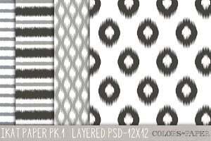 Seamless Layered Photoshop Ikats # 1