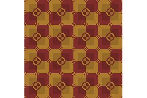 Gold and red pattern. Vector
