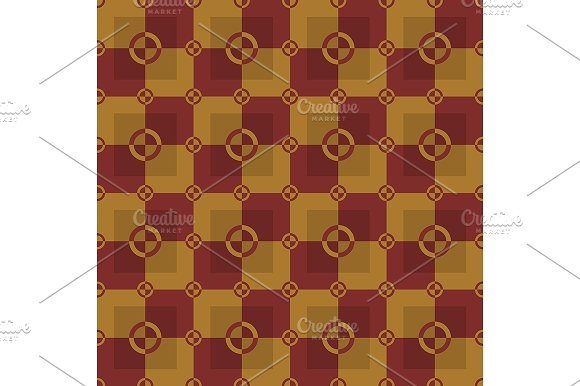 Gold and red pattern. Vector - Patterns