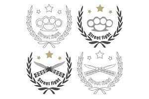 Brutal logo. Vector
