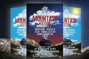 MOUNTAIN FESTIVAL PARTY FLYER $4