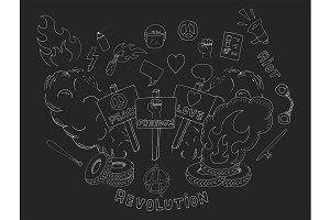 Protest symbols. Vector