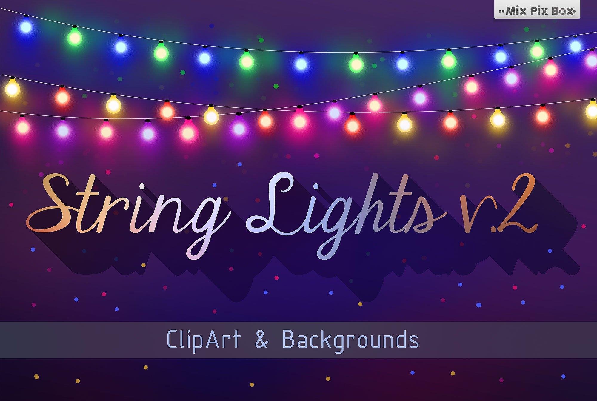String Lights V 2 Graphic Patterns Creative Market