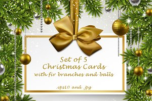 Christmas & New Year cards templates