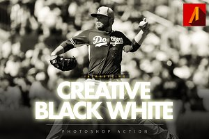 Creative Black and White Action