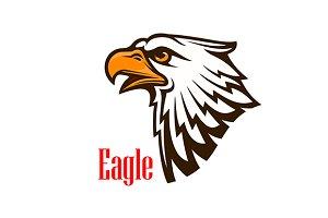 Eagle head vector emblem