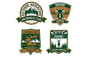 Hunting club emblems