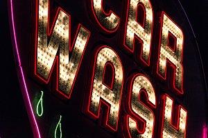 Lighted Car Wash Sign