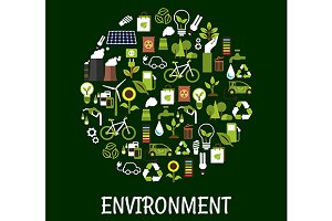 Ecology friendly poster