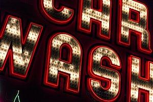 Neon Car Wash Sign