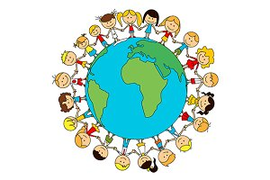 Children world friendship