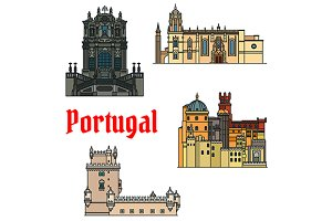 Portugal landmarks and monuments