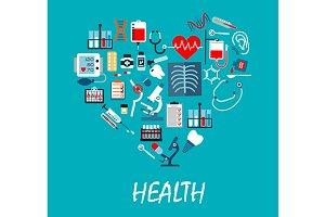 Healthcare medicine vector poster