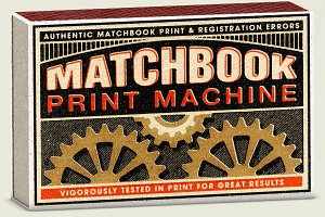 Matchbook Print Machine | PSD Pack
