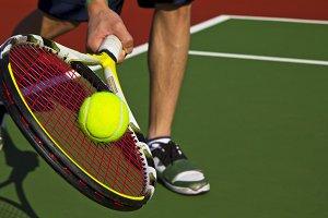 Outdoor tennis on new court