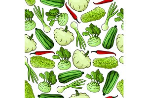 Farm vegetables pattern