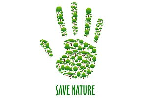 Green environment protection poster