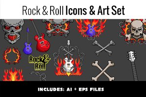 Rock & Roll Icons & Art Set