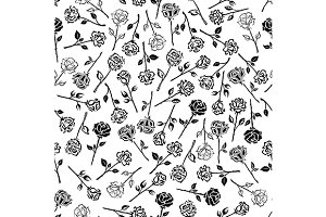 Roses floral seamless pattern