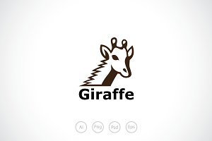 Giraffe Logo Template
