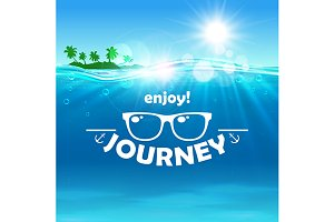 Summer journey. Ocean, island, beach