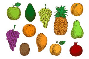 Fresh tropical and exotic fruits