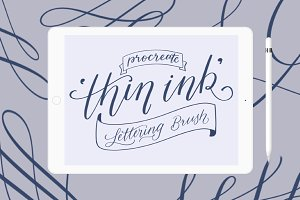 iPad Lettering brush - 'Thin Ink'