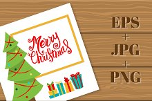 Lettering Christmas card.