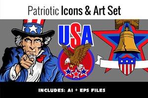 Patriotic Icons & Art Set