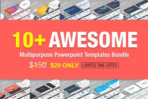 10+ Awesome Powerpoint Bundle