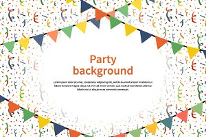 Party background with confetti